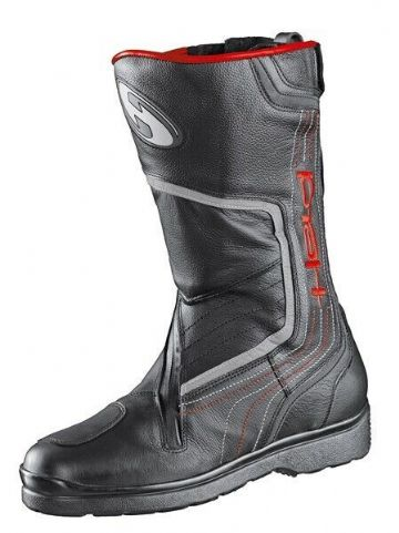 Held Conan Waterproof Outdry Motorcycle Motorbike Leather Touring Boot Black Red
